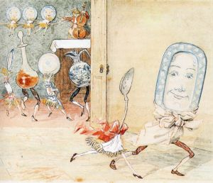 The dish and the spoon illustration by Randolph Caldecott