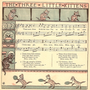 Three Little Kittens illustrations and music drawn by Walter Crane