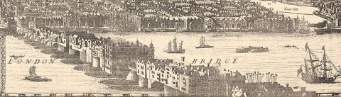 London Bridge in 1682