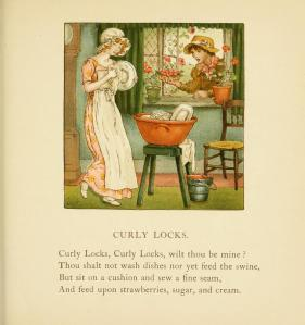 Curly Locks from The April Baby's book of tunes by Kate Greenaway