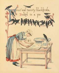 Four and Twenty Blackbirds Baked in a Pie by Walter Crane