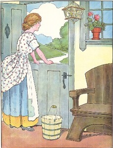 Oh dear what can the matter be illustration by Blanche Fisher Wright