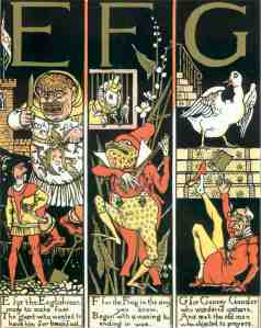 G is for Goosey illustrated by Walter Crane
